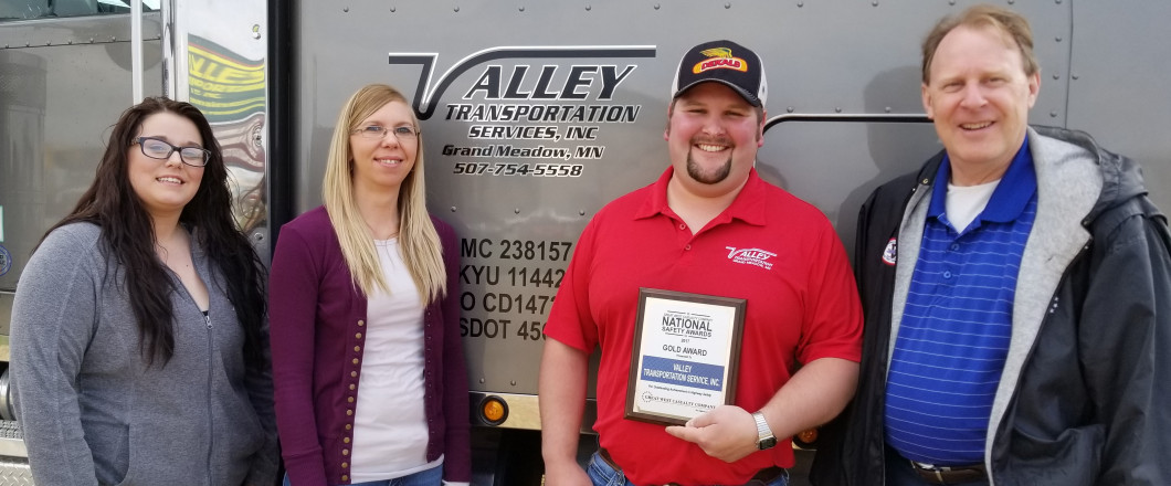 All About Safety! 2017 Great West Casualty Company Gold Award Recipient for Outstanding Achievement in Highway Safety